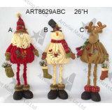 Panier de décoration de Noël de bonhomme de neige de Santa, 3asst