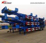40FTの容器のトレーラーシャーシポートの輸送のためのターミナルトレーラー