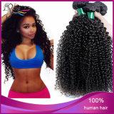 extensão Kinky humana não processada brasileira do cabelo Curly da classe 7A