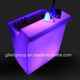 RGB mais a mobília ao ar livre branca do diodo emissor de luz da tabela da altura do contador da barra do diodo emissor de luz para a venda