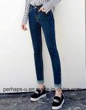 Jeans de van uitstekende kwaliteit van de Taille van de Kleren van Vrouwen