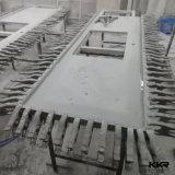 Bovenkant van de Ijdelheid Sotne van de badkamers de Witte Marmeren