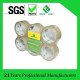Adhesivo de alta paquete plano BOPP embalaje del cartón de la cinta adhesiva