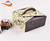 Rectángulos de regalo de encargo al por mayor del papel de arte y rectángulo plegable de la torta del papel