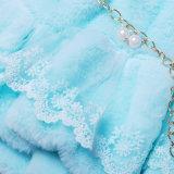 زرقاء ولون قرنفل لباس لأنّ طفلة [فوإكس] فروة ملابس ثوب