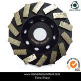 Абразивный диск чашки 5 этапов дюйма 125mm Turbo для гранита/мрамора/бетона