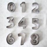 Изготовленный на заказ резцы печенья номера и формы письма