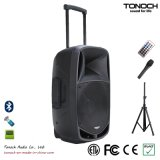 OEM 15 Inches Plastic Trolley Active Speaker с Battery