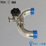 Válvula de diafragma 3way Sanitaria de acero inoxidable