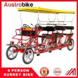 8 Personen-Surrey-Fahrrad mit Scheinwerfer-Surrey-Fahrrad-Schlussteil des Dach-LED