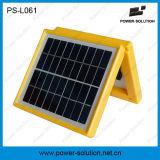 Portátil de plástico de color amarillo lámpara recargable linterna LED solar para Zimbabwe con cargador de teléfono