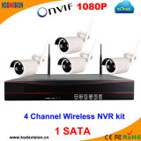 4 CCTV sem fio DVR WiFi de Megapixel da canaleta 1.0