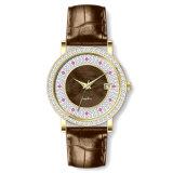 La montre des femmes de mode avec les pierres et le cadran Bg494 de Zircon de lavette