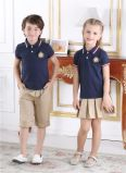 Moda personalizada Elegante escola primária Men's and Girl's Uniform S53102