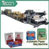 Bolsa de papel completamente automática de la válvula de la impresión de Flexo que hace la máquina