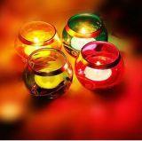 ガラス瓶の蝋燭ホールダー