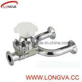 Válvula de diafragma pneumática operada manual