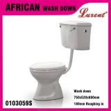 Carte de travail en deux pièces de vente entière de système de gicleur de lavage à grande eau de traitement de côté de poterie