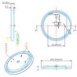 Dispositivo elétrico de iluminação do diodo emissor de luz A80 carcaça do bulbo de 15 watts