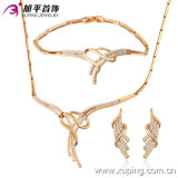 최신 Sales 18k Gold Plated CZ Stones Jewelry Set (62992)