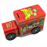 Empaquetado de la lata de la caja de regalo del alimento de la forma del coche de metal