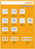 Europäische Art-Fieberhitze eingehangener schwächerer Schalter-Leuchte-Abblendregler (F6003)