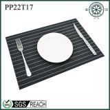 Stuoia nera della Tabella pranzante del PVC del vinile di protezione contro il calore del sottobicchiere