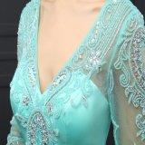 Vestido de noite de perolização Sleeveless da V-Garganta 3/4 (SL10339)
