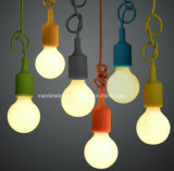 E27 Colorful Silicone Lamp Holder 100cm Cord+Ceiling Base