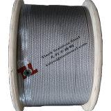 304 7X19 1/8インチ3.2mmのステンレス鋼ワイヤーロープ