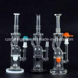 Kundenspezifische Kreation gerades buntes Incycler rauchendes Wasser-Glasrohr