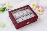 Caixas luxuosas Handmade de couro de relógio de Mens do plutônio para o homem