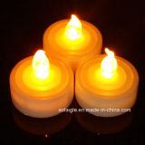 Flammenloses flackerndes gelbes Wärmer-Weiß der Kerze-LED Tealight