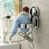 Bathroom를 위한 Air Vacuum Suction Cup를 가진 크롬 도금을 한 Hair Dryer Shelf