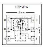 Hexfet 힘 Mosfet Irfhs9301trpbf 전자 부품의 트랜지스터