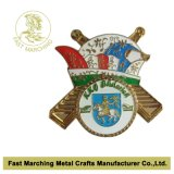 Badge de cobre amarillo con Silver Plating, Custom Lapel Pins con Top Quality