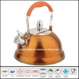 Utensilios de cocina de la caldera del silbido del acero inoxidable de la maneta del tacto suave