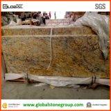 Dessus de granit en cristal d'or normal de qualité contre-