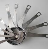 乾燥した、液体の原料を測定するための5人の専門家の等級のステンレス鋼の測定スプーンのセット