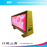 Venta caliente cara doble de P5 a todo color LED superior del taxi Screen Display