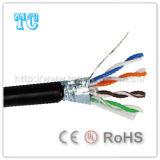 Câble extérieur de réseau du chat 5e de certificat de la CE
