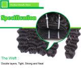 Do cabelo profundo do Virgin da onda 5A/6A/7A da classe extensão brasileira do cabelo humano