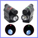 Hoch entwickelter Optics Tactical Compact Rail Mounted Red Green Laser Sight mit 300 Lumen LED Flashlight