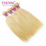 Colorare il tessuto peruviano diritto naturale dei capelli umani 613#