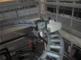 Machines de film plastique soufflées par bobinier simple mono de couche d'occasion