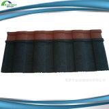 Matériaux enduits de tuile de toiture de tuile de toit en métal de pierre colorée élégante