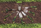 Hulpmiddelen 3 van de tuin de Landbouwer van de Hand van de Hark van de Tuin van het Roestvrij staal van Rieken
