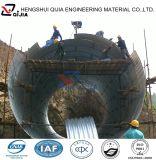 China baute Stahlabzugskanal zusammen