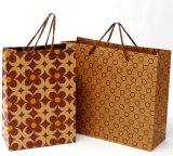 Riciclare Natural Brown Kraft Paper Shopping Gift Bag con Handle