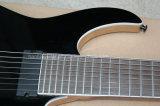 Hanhai Musik/schwarze elektrische Gitarre 8-String mit örtlich festgelegter Brücke
